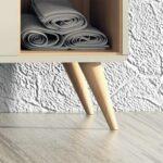 Renovación de muebles con el cambio a patas de madera de forma fácil y barata